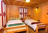 Wood finished warm rooms, perfect to rest, read and relax